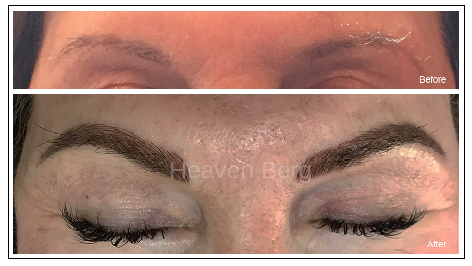 Beautiful eyebrows with microblading near me in Paramus, NJ - Heaven